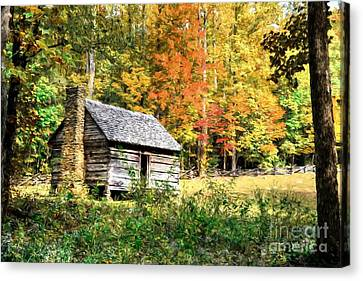 Autumn In The Smoky Mountains # 2 Canvas Print by Mel Steinhauer