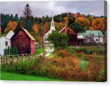Autumn In Waits River Vermont Canvas Print