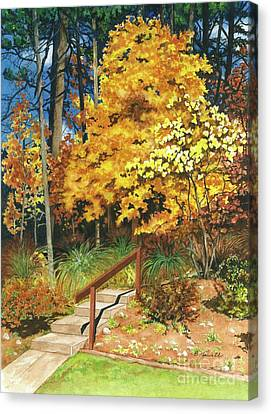 Canvas Print featuring the painting Autumn Invitation by Barbara Jewell