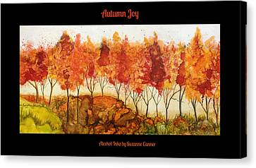 Canvas Print featuring the painting Autumn Joy by Suzanne Canner