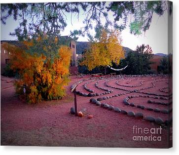 Autumn Labyrinth Canvas Print by Marlene Rose Besso