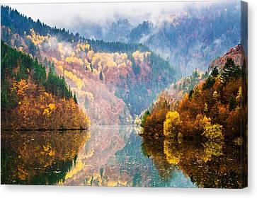 Autumn Lake Canvas Print by Evgeni Dinev