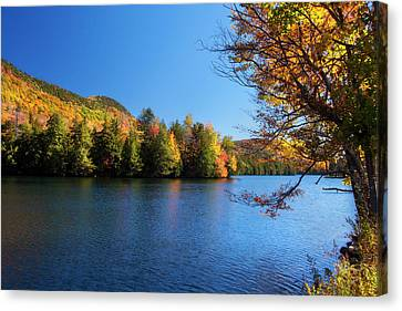 Autumn Lake In Vermont  Canvas Print