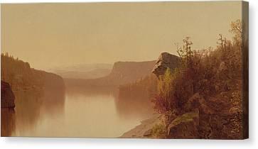 Autumn Lake Scene Canvas Print by Jervis McEntee