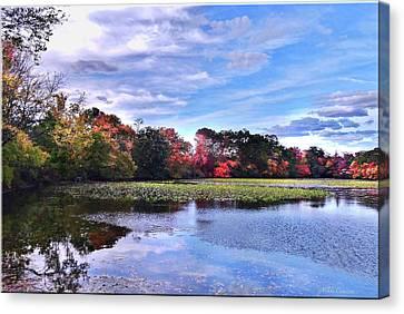 Autumn Landscape 3 Canvas Print by Mikki Cucuzzo