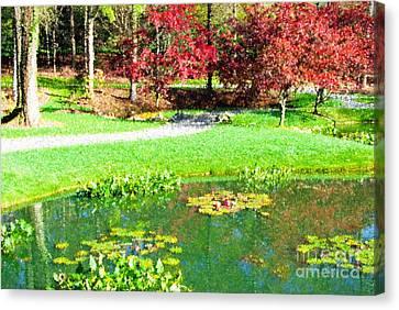 Autumn Landscape At Gibbs Gardens In Georgia Usa Canvas Print by Vizual Studio
