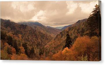 Autumn Landscape In The Smoky Mountains Canvas Print by Dan Sproul