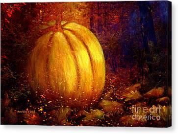 Autumn Landscape Painting Canvas Print