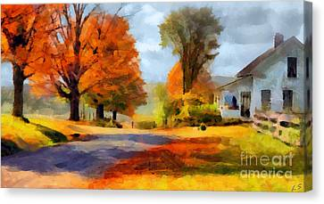 Autumn Landscape Canvas Print by Sergey Lukashin