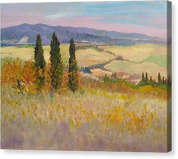 Autumn Landscape - Tuscany Canvas Print by Biagio Chiesi