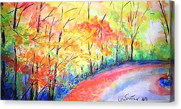 Autumn Lane Iv Canvas Print by Lizzy Forrester