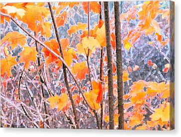 Canvas Print featuring the digital art Autumn Leaves 2 Pdae by Lyle Crump