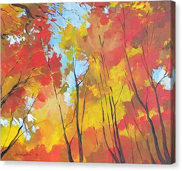 Autumn Leaves Canvas Print by Alessandro Andreuccetti