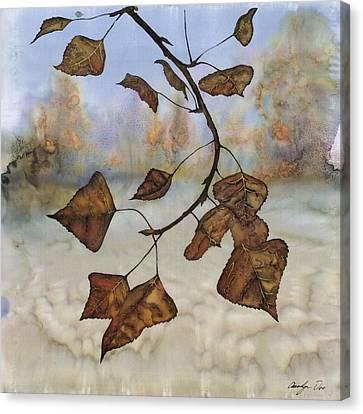 Autumn Leaves Canvas Print by Carolyn Doe