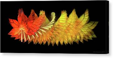 Canvas Print - Autumn Leaves - Composition 2.2 by Jules Gompertz