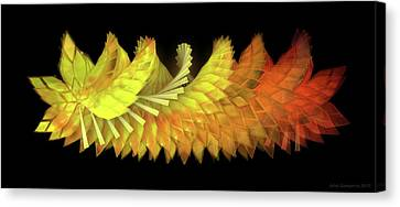 Canvas Print - Autumn Leaves - Composition 2.3 by Jules Gompertz