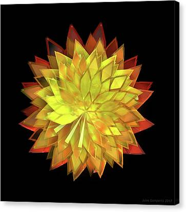Canvas Print - Autumn Leaves - Composition 4 by Jules Gompertz