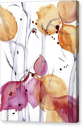 Canvas Print featuring the painting Autumn Leaves by Dawn Derman