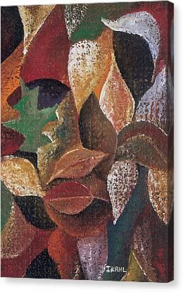 Black Artist Canvas Print - Autumn Leaves by Ikahl Beckford