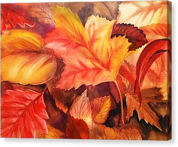 Autumn Leaves Canvas Print by Irina Sztukowski
