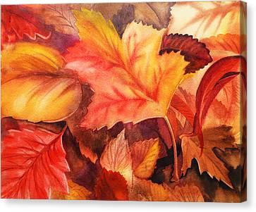 Oak Canvas Print - Autumn Leaves by Irina Sztukowski