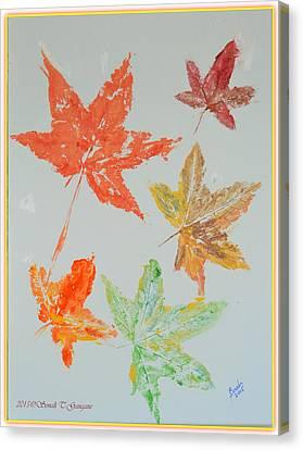 Autumn Leaves Canvas Print by Sonali Gangane