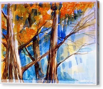 Autumn Light Canvas Print by Mindy Newman