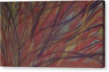 Abstract Digital Canvas Print - Autumn Lines by Roy Hummel