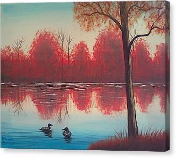 Autumn Loons Canvas Print