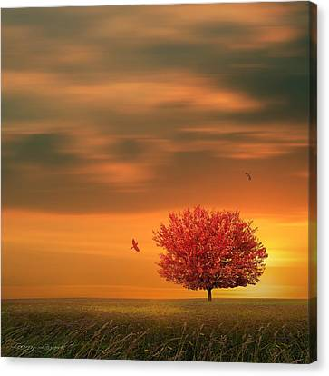 Autumn Canvas Print by Lourry Legarde