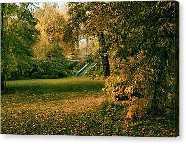 Autumn Meadow Entrance  Canvas Print by Jessica Jenney
