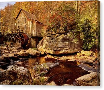 Autumn Mill Canvas Print by L O C