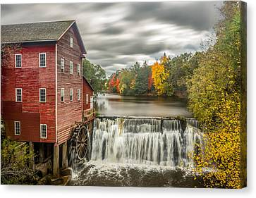 Autumn Mill Canvas Print by Mark Goodman