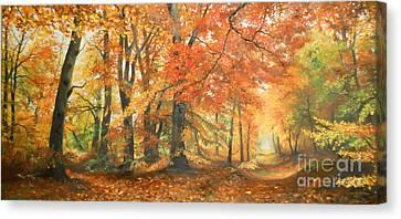 Autumn Mirage Canvas Print by Sorin Apostolescu