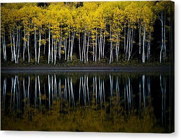 Canvas Print featuring the photograph Autumn Mirror by Dustin  LeFevre