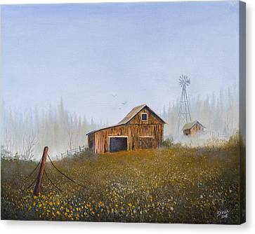 Autumn Mist Canvas Print by C Steele