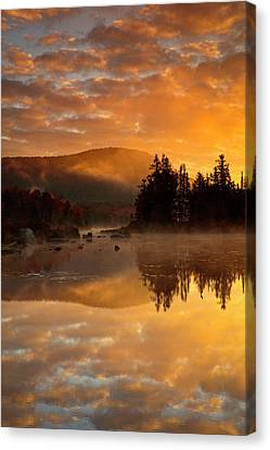 Canvas Print featuring the photograph Autumn Mist by Mike Lang