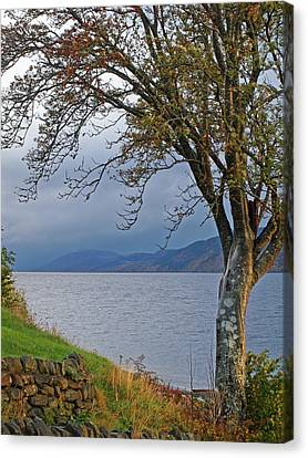 Autumn Mist On Loch Ness Canvas Print