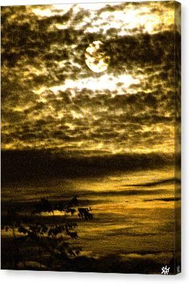 Autumn Moon Canvas Print by Debra     Vatalaro