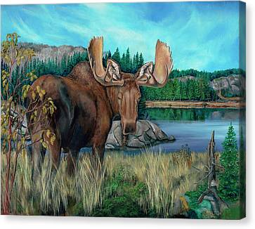 Autumn Moose Canvas Print
