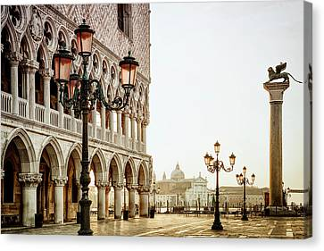 Autumn Morning At St. Mark's Canvas Print by Andrew Soundarajan