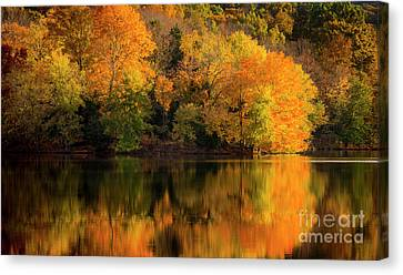 Radnor Canvas Print - Autumn Morning At The Lake by Brian Jannsen