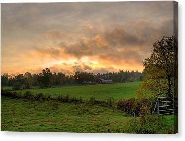 Autumn Morning Canvas Print by David Bishop