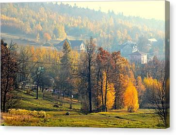 Autumn Morning Canvas Print by Henryk Gorecki