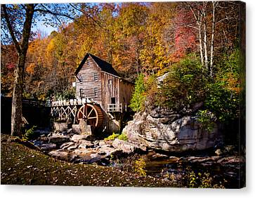 Grist Mill Canvas Print - Autumn Morning In West Virginia by Jeanne Sheridan