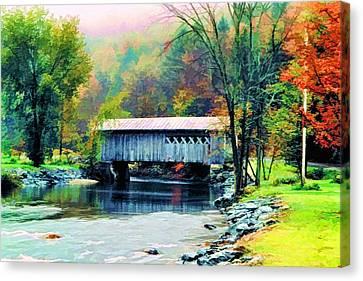 Autumn Morning Mist 2 Canvas Print by Dan Dooley