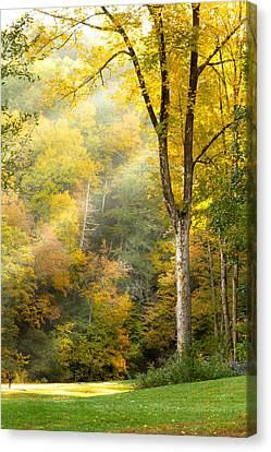 Autumn Morning Rays Canvas Print by Brian Caldwell