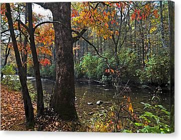Autumn Mountains Canvas Print by Debra and Dave Vanderlaan