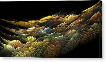 Canvas Print featuring the digital art Autumn Nightfall by Richard Ortolano