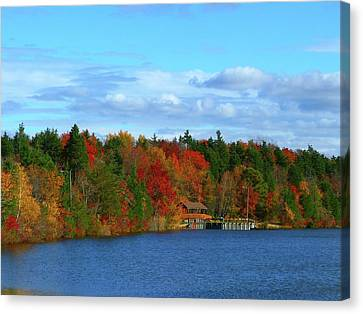 Autumn On Bamber Lake Canvas Print by George Martinez
